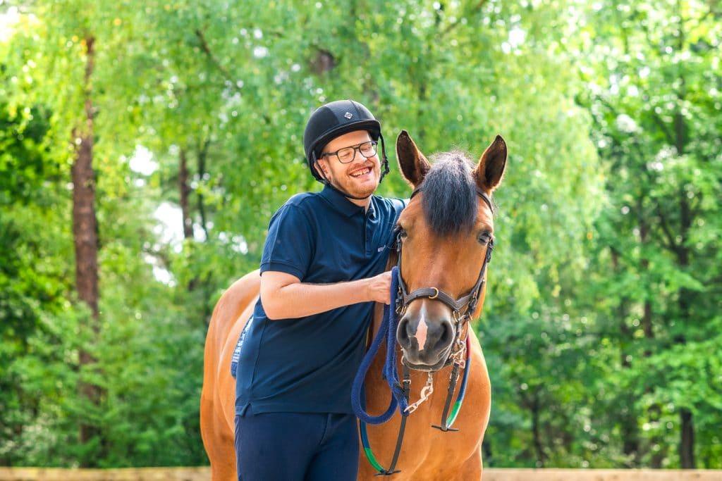 Paardrijden maakt blij